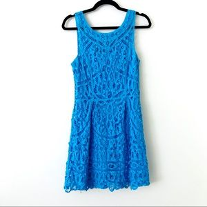 LILLY PULITZER Turquoise Lace Foley Dress